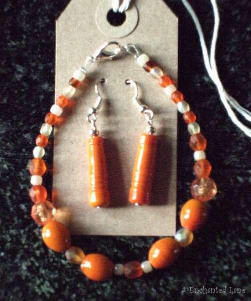 Earring & Bracelet Pumpkin & Carrot